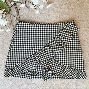 Zara Mini Skirt/short With Cute ruffles